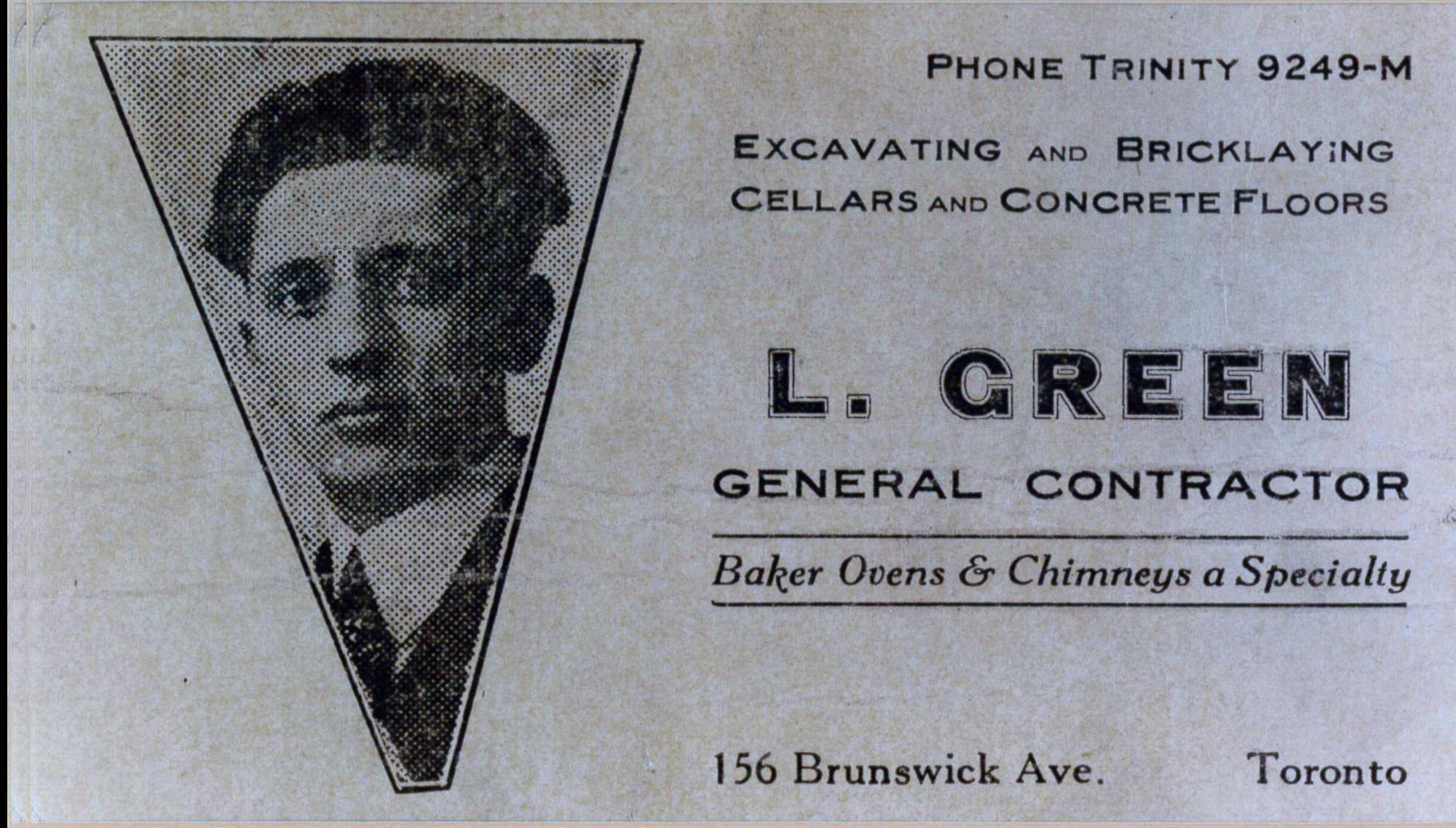 Louis Green business card