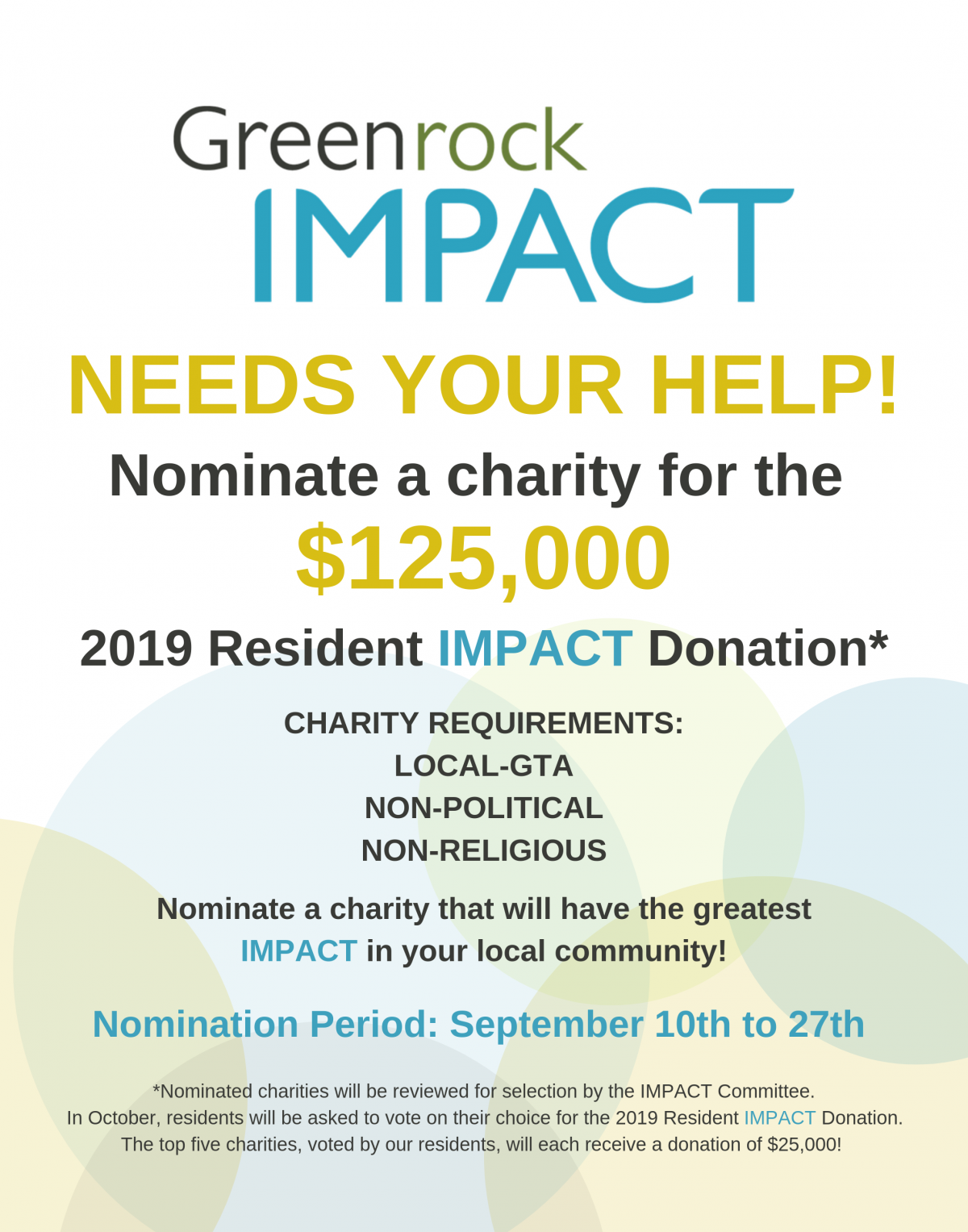 Greenrock 2019 IMPACT Donation