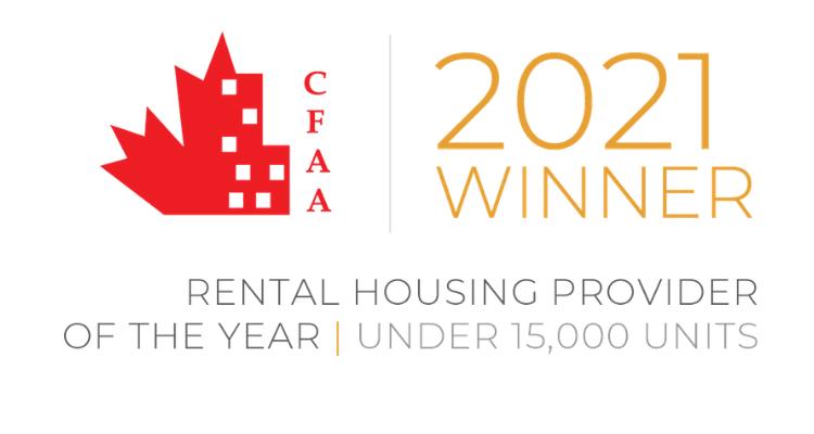 CFAA Rental Housing Provider of the Year Award logo