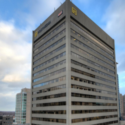 Exterior of Postmedia Place building